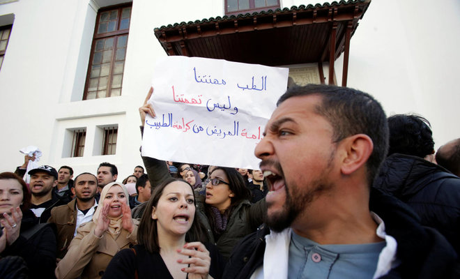 Protests by teachers, health workers spread in Algeria