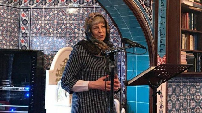 UK Prime Minister wore veil while participating in 'Visit My Mosque' weekend