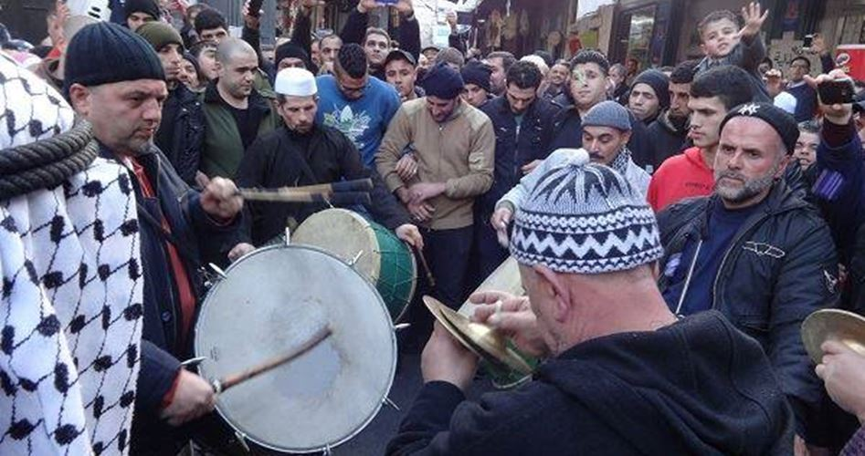 Nablus: Marking religious events with Sheikh Nadhmi band